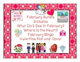 February Bundle for Vocab, Concepts, Bingo, Flashcards