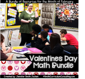 February Bundle of Activities- Task Cards and Solve and Snips