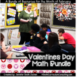 Valentines Day Math Bundle of Activities - Task Cards and Solve and Snips