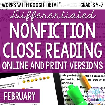 Non fiction winter animal text teaching resources teachers pay february combo differentiated nonfiction close reading texts and questions fandeluxe Image collections