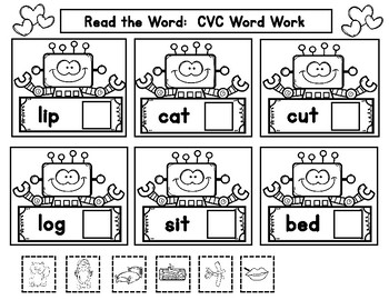 February CVC Word Work
