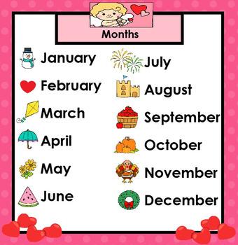 SMARTBOARD February Calendar
