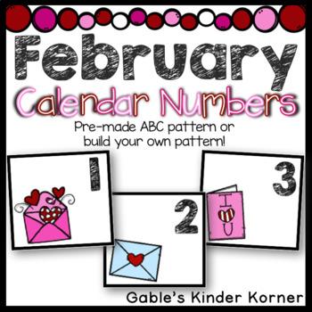 February Calendar Card Set