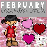 All year long calendar cards - February