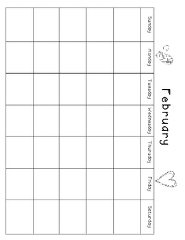 February Calendar Cards & Calendar Journal!!