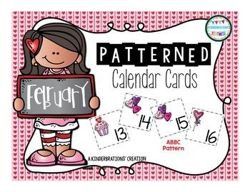 February melonheadz. Calendar cards style