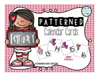 February Calendar Cards- Melonheadz Style