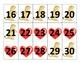 February Calendar Cards - Valentine/Groundhog Day Theme