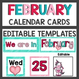 February Number and Calendar Cards
