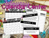 February Calendar Center Task Cards