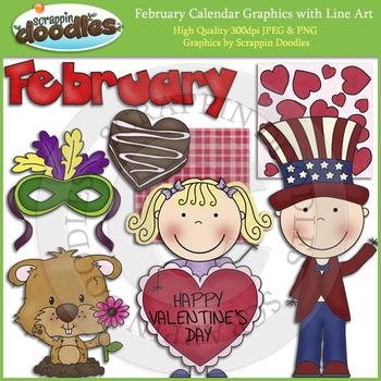 February Calendar Graphics