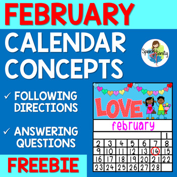 February Calendar Concepts: Following Directions & Answeri