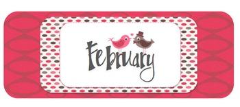 February Calendar Header and Numbers Freebie