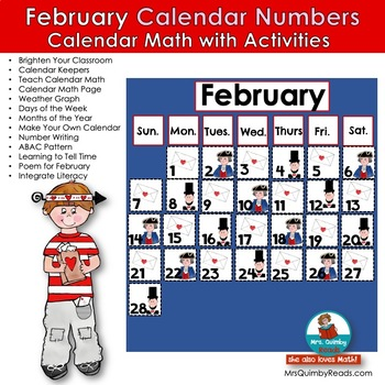 Calendar Number Cards for February | Math and Activities | Calendar Math
