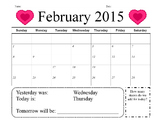February Calendar Math Assessment