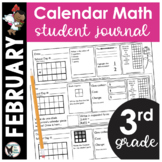 February Calendar Math Student Journal