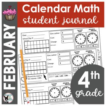 February Calendar Math Student Journal- 4th Grade Edition