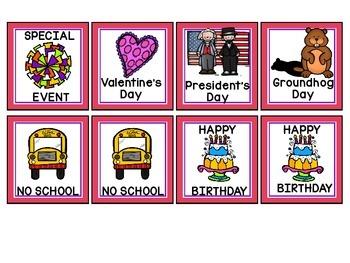 February Calendar Numbers