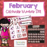 February Calendar Number Card Set