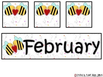 Calendar: February  ~ Valentine Number Order 1-30