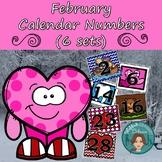 February Calendar Numbers (6 sets) 1-31