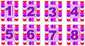 February -- Calendar Numbers, Days, Month