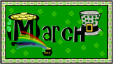 March -- Calendar Numbers, Days, Month
