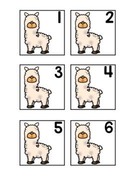 February Calendar Numbers - Llama Theme!