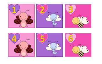 February Calendar Numbers (Valentine's Day) ABC Calendar Pieces