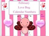 February Calendar Numbers (Valentine's Day) ABC Calendar Pieces