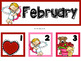 February Calendar Numbers or Math Station Number Cards