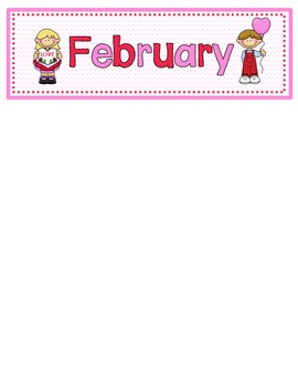 February Calendar Numbers with Patterns