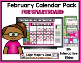 2021 February Calendar and Math Pack for Smartboard