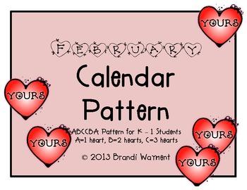 February Calendar Pattern