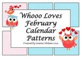 February Calendar Patterns