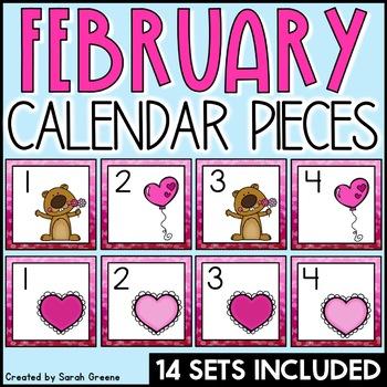 February Calendar Pieces!