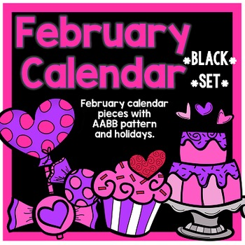 February Calendar Pieces - Black Set