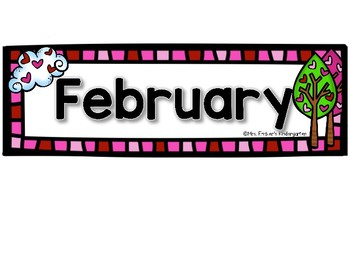 February Calendar Pieces-Numbers