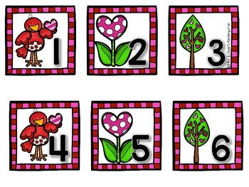 Calendar Pieces-Numbers February
