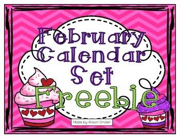 February Calendar Set Freebie