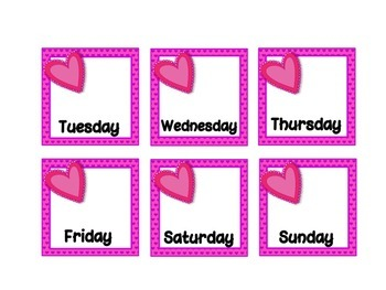 February Calendar Set - Hearts