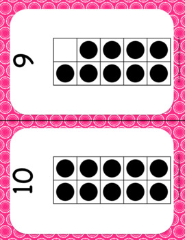 February Calendar Squares Set With Ten Frames That Encourages Math Talk