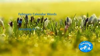 February Calendar & Daily Vocabulary