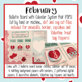 February Calendar and Bulletin Board set that pops with pr
