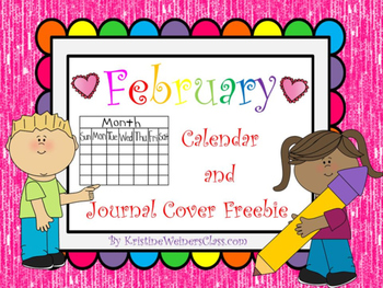 February Calendar and Journal Cover Freebie