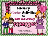February Center Activities for Math and Literacy