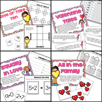 February Centers -- First Grade Math and ELA