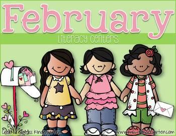 February Centers for Kindergarten