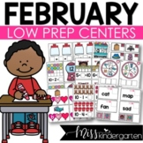 Low Prep February Centers | Math and Literacy Centers