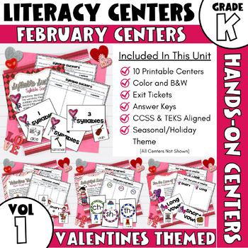 February Centers -- Kindergarten ELA